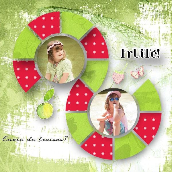 mosaiques template simplette page lady it Streawberries de chez creative factory rak caroline