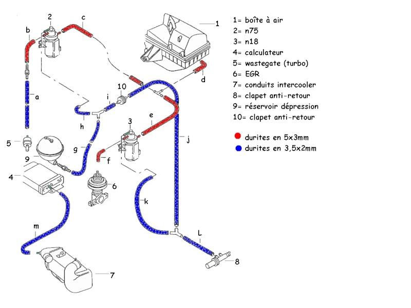 conseils donn es et sch mas complet du circuit de d pression golf tdi afn. Black Bedroom Furniture Sets. Home Design Ideas