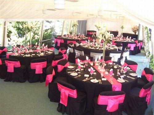 Rose et noir salles et d corations mariage forum vie - Deco de table noir et rose ...