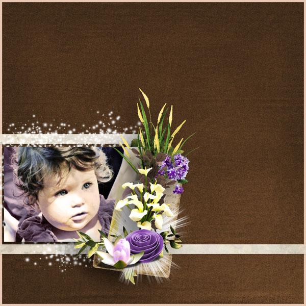 fleurs du mal kit simplette page simplette RAK Marie template toupie