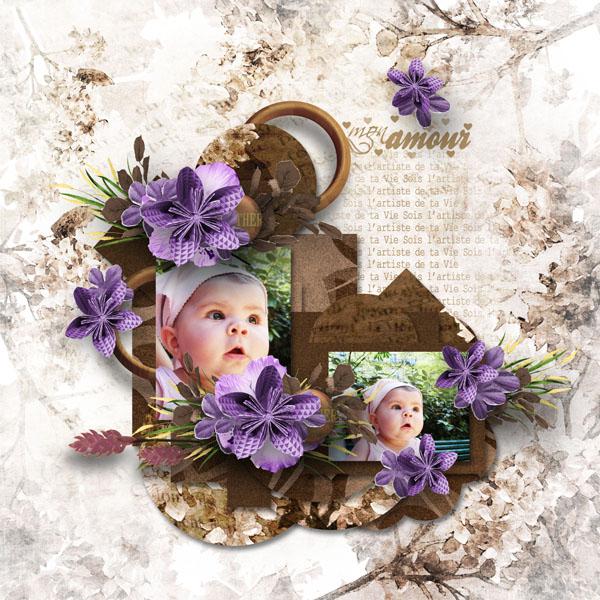 fleurs du mal kit simplette page RAK Mayasa template eudora