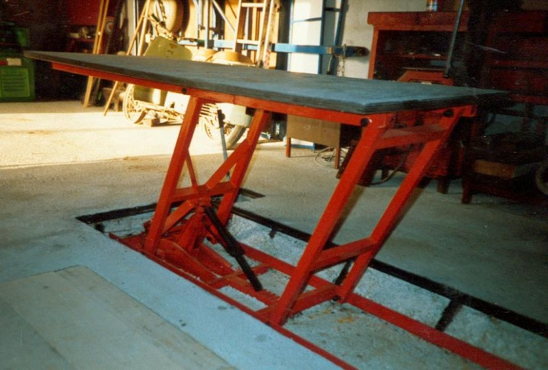 Fabrication table elevatrice for Table elevatrice