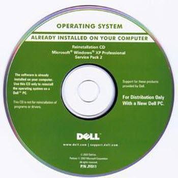 HP Compaq Restore Disc XP Pro Operating System Reinstallation CD SP2 361936-001