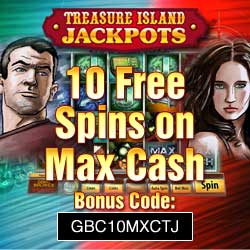 treasure island jackpots casino free spins