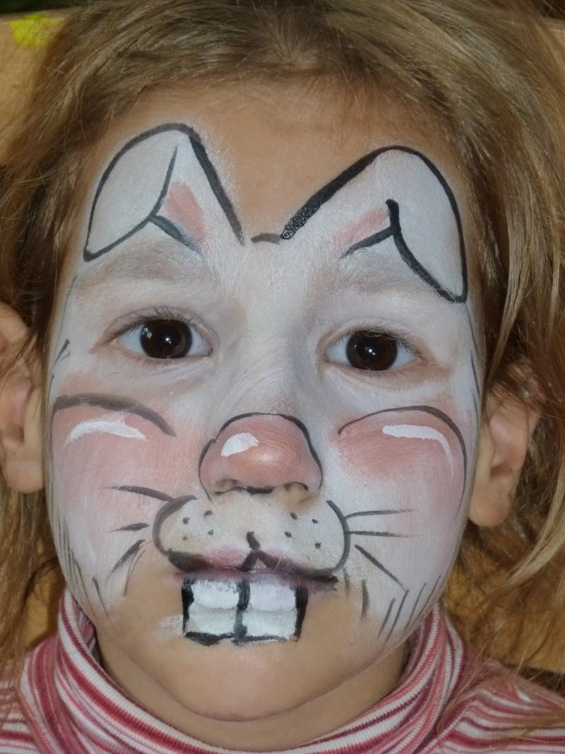 Bunny Face Paint.  Bunny Rabbit Designs
