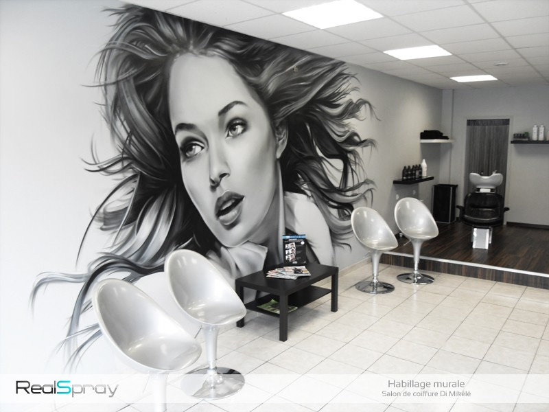 Graffiti street art deco salon de coiffure - Decorateur exterieur ...