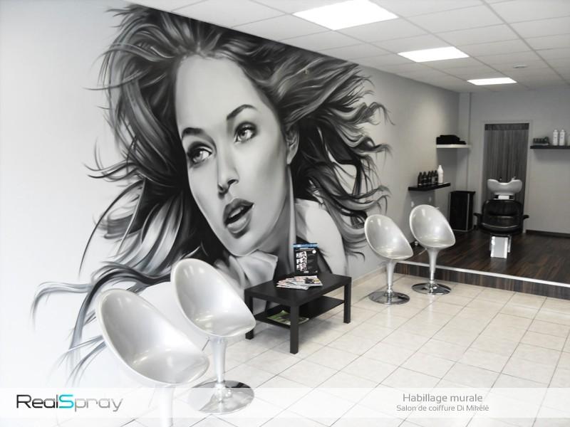 Graffiti street art deco salon de coiffure - Nombre de salons de coiffure en france ...