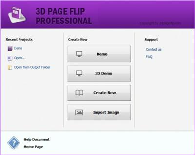 ������ ����� ����� PDF ��� ���� ��������� ������� 3D PageFlip Professional 1.7.2