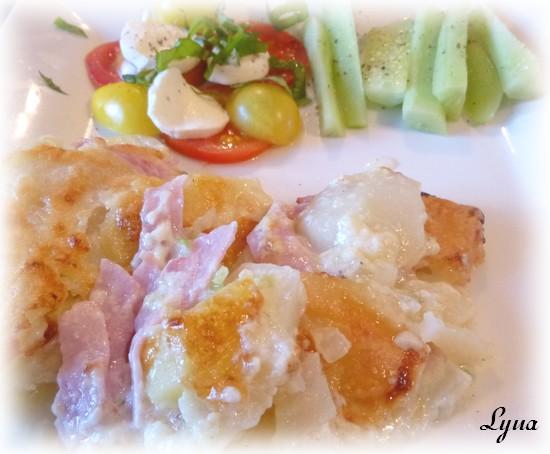 Gratin de jambon blanc et pommes de terre sans le bras central actifry - Gratin de pomme de terre jambon ...