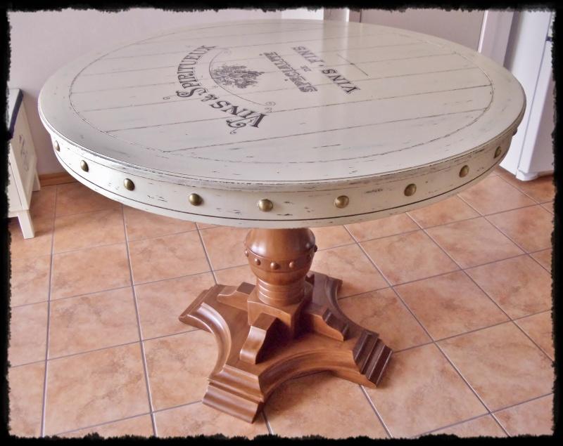 Galicia 39 s shop restauracion de mesa usando el transfer - Como restaurar una mesa de madera ...
