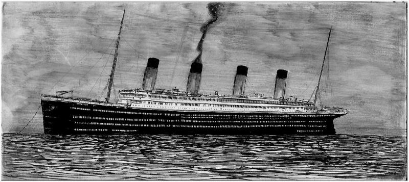 Serie de dessins sur le titanic ses sister ships - Dessin du titanic ...